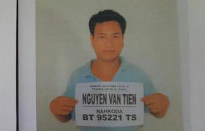 Nguyen Van Tien (Nahkoda KIA 95221 TS) Umur 28, WN Vietnam