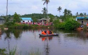 Tim Rescue BNPP Pos Nongsa saat melakukan pencarian di Waduk Bekas Galian Pasir, Nongsa, Batam. (Foto: Istimewa)