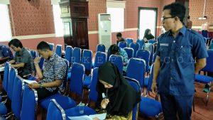 Peserta JPI Tingkat Kota Tanjungpinang 2018 saat tes wawancara. (Foto: ANG)